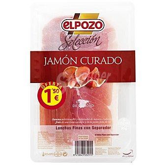 ElPozo Jamón curado finas lonchas selección Sobre 90 gr
