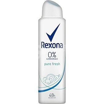 Rexona Woman desodorante Pure Fresh 0% sales de aluminio 48h Spray 150 ml