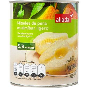 Aliada Pera mitades en almíbar ligero Lata 480 g neto escurrido