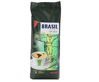 Auchan Café molido de tueste natural de Brasil 250 gramos