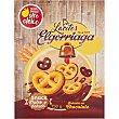 Lacitos galletas snack bañadas en chocolate con aceite de giraso alto oleico  estuche 150 g Elgorriaga