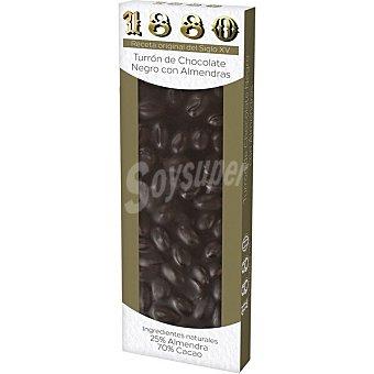 1880 Turrón de chocolate negro con almendras Tableta 200 g