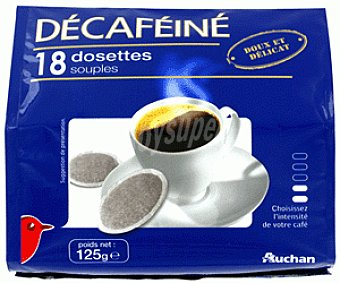 Auchan Café Descafeinado Monodosis 18u