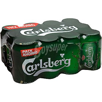 Carlsberg Cerveza 12 latas de 33 cl