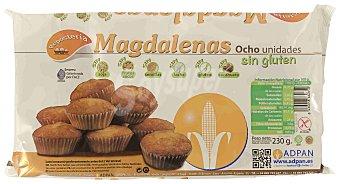 Adpan Magdalenas sin gluten y sin lactosa 8 unidades, 230 g