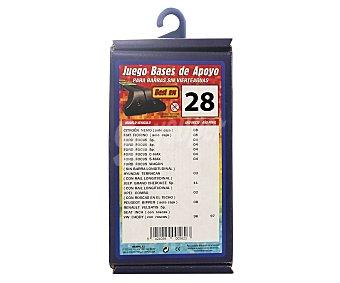 Rolmovil Juego de bases de apoyo para barras sin vierteaguas Nº 28