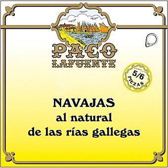 Paco lafuente Navajas al natural de las Rías Gallegas 5-6 piezas lata 75 g lata 75 g