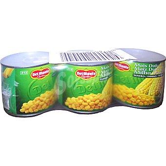 Del Monte Maíz dulce en grano neto escurrido Pack 3 latas 180 g