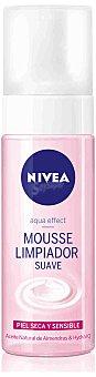 Nivea Limpiador facial mousse suave para piel seca y sensible 150 ml