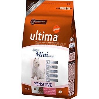 AFFINITY ULTIMA ADULT SPECIAL MINI Sensitive Rico en salmón y arroz para perros de raza mini envase 1,5 kg Envase 1,5 kg