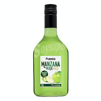 Piomka Licor sin alcohol de manzana verde Botella 700 ml