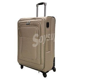 In Extenso Maleta de 4 ruedas abs, flexible, color beige, Trolley Flexible 74cm