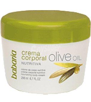 Babaria Crema manos y cuerpo con aceite de oliva Tarro de 200 ml