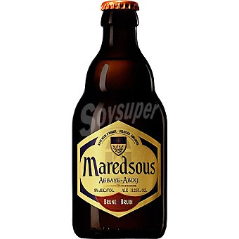 MAREDSOUS Brune cerveza negra belga botella 33 cl Botella 33 cl