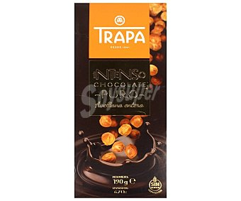 Trapa Chocolate negro con avellanas enteras 190 g