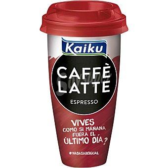 Kaiku Expresso café arábica espresso con leche fresca Caffè Latte Vaso 230 ml