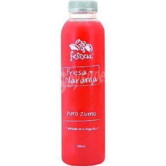 Be fresh Zumo de naranja y fresa botella 1 l 1 l
