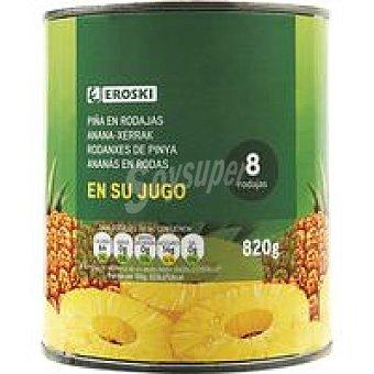 Eroski Piña en rodajas en su jugo Lata 490 g