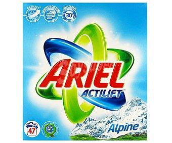 Ariel Detergente en Polvo Alpes 47 Dosis
