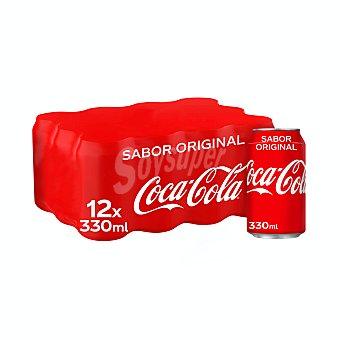 Coca-Cola Refresco de cola Pack 12 latas x 33 cl