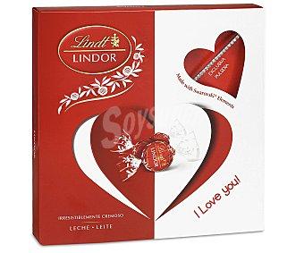 Lindt Bombones de chocolate con leche con relleno cremoso más una pulsera Swarovski de regalo 125 g
