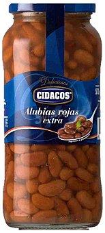 Cidacos Alubia roja cocida Frasco 400 g