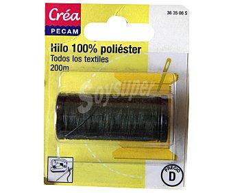 STYLE Hilo de poliéster color kaki oscuro, 200 metros 1 Unidad