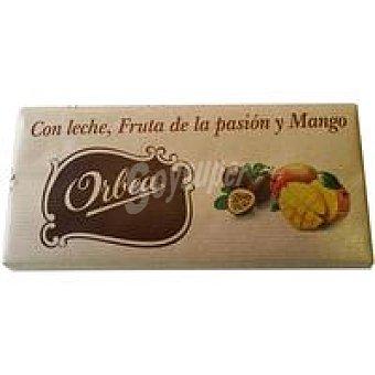 ORBEA Chocolate con leche fruta de la pasión y mango 125 g