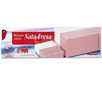 Auchan Bloque Nata-Fresa 1 Litro