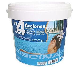 Pqs Tratamiento 4 funciones (desinfectante, algicída, floculante y antical) en tabletas de 200 gramos 10 Kilogramos