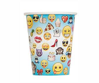Partygram Partygram 8 vasos cartón emoji 260 cc