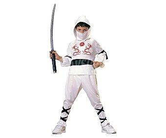 Rubie's Disfraz infantil ninja blanco, talla M, 5-7 años RUBIE'S.