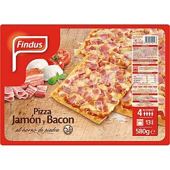 FINDUS pizza de jamón y bacón estuche 580 g