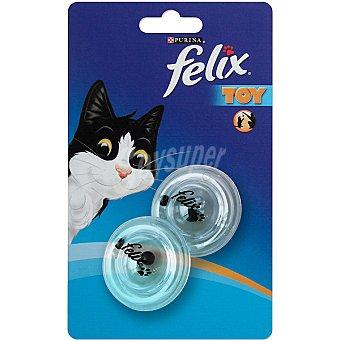 Felix Purina discos sonajeros para gato Toy 2 unidades