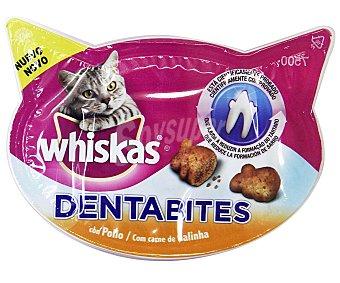 Whiskas Comida para gatos con pollo y queso que ayuda a reducir la formación de sarro Paquete de 60 g