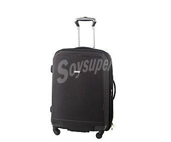 AIRPORT Maleta de 4 ruedas de goma eva, flexible y expansible, color negro 1 Unidad