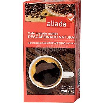 Aliada café descafeinado natural molido paquete 250 g
