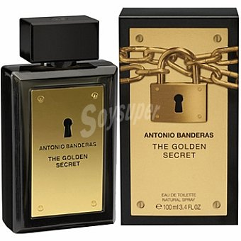 Antonio Banderas Colonia The Golden Secret eau de toilette natural masculina Spray 100 ml