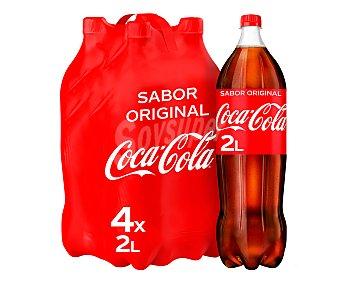 Coca-Cola Refresco de cola Pack 4 botellas de 2 l