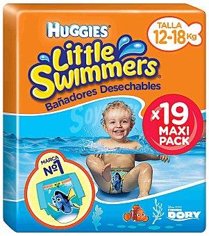 Little Swimmers Huggies Bañador desechable 12-18 kg talla 5-6 Paquete 19 unidades