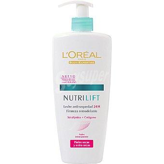 L'Oréal Nutrilift Leche anti-sequedad 24 h firmeza remodelante piel seca y extra seca Dosificador 400 ml
