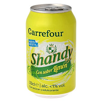 Carrefour Cerveza Shandy con sabor limón 33 cl