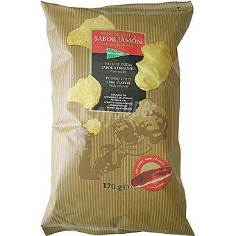 El Corte Inglés Patatas fritas sabor jamón con aceite de oliva Bolsa 170 g