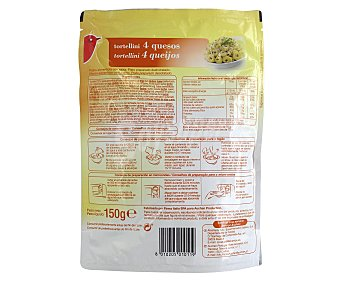 Auchan Tortellini 4 quesos, 150 gramos 150g