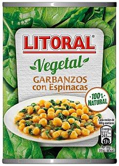 Litoral Garbanzos con espinacas Lata 425 g