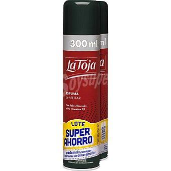 La Toja Espuma de afeitar Classic con sales minerales y pro-vitamina B5 para piel normal pack 2 spray 300 ml Pack 2 spray 300 ml