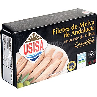 Usisa Melva canutera de Almadraba en aceite de oliva Lata 78 g neto escurrido