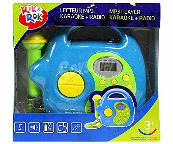 RIK & ROK Reproductor Musical con Micrófono 1 Unidad