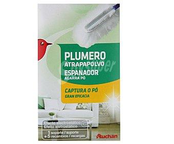 Auchan Plumero atrapapolvo+ recambio 1 unidad + 5