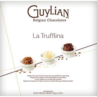 Guylian Trufas de chocolate belga con láminas de chocolate con leche Estuche 180 g